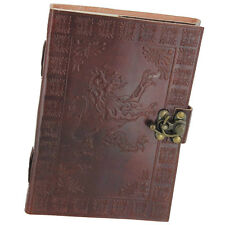 Handmade Leather Blank Journal Rampant Lion Medieval Diary