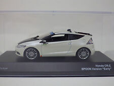 "HONDA CR-Z SPOON Version ""Early"" White/Black  1:43  Jcollection KYOSHO NEW"