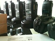 (8) MOTOROLA HT1250 LOW BAND 35-50MHz 128ch radio AAH25CEF9AA5AN Bat Ant Charger