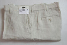 $89 New Jos A Bank JOSEPH ABBOUD Linen flat front shorts in solid Stone tan 44 W