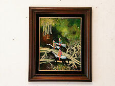 'SPIRIT FOREST' Vintage Oil Painting by John Poti E Indian Warrior Native Tribal