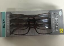 LOT OF 3 FOSTER GRANT HADLEY TORTOISE READING GLASSES +2.75 NEW