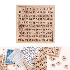 WOODEN 1-100 CONTINUOUS NUMBERS BOARD CRAFTS KIDS CHILDREN GAME PLAYING MATH TOY