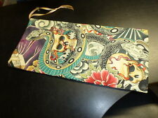 Drop Spindle Bag Oriental Tatto Design Cotton Fabric