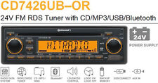 24 Volt Bluetooth LKW Radio RDS Tuner CD MP3 WMA USB Truck Bus 2910000080900