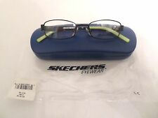 Sketchers SK1016 Boys Black Green Eyeglass Frames Full Rim 44-15-125 New w/ Case