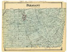 1879 Pleasant town map from Atlas of Clarke County Ohio w/family names- rare