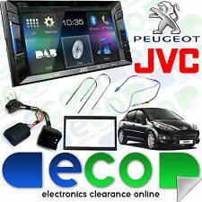 "PEUGEOT 207 06-12 JVC 6.2 ""CD DVD MP3 USB AUX-IN Bluetooth DAB Stereo Doppio DIN"