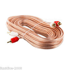 5M METRE SINGLE SHIELDED OFC RCA LEAD PHONO CAR VAN MOBILE HOME TV HIFI DJ BOAT