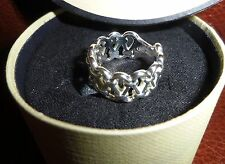 LINKS OF LONDON SILVER RING - SIZE M - NEW IN BOX + CARRIER