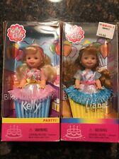 Birthday Party Kelly & Liana Kelly Club Dolls 2001 New in Box Lot of 2