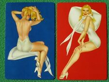 Varga Girl Esquire Pinup Art Deco Playing Cards Blondes in Swimsuit Vintage 1945