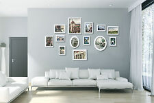 White Multi Picture Photo Frames Wall Set 13 PCS Home Deco Collage Wall Set Art