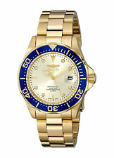 Reloj Invicta Crystal Watch Man Hombre Gold Bracelet Pulsera Hand Men Relogio