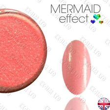 PEACH MERMAID EFFECT NAILS ART POWDER  GEL HYBRID Efekt Syrenki Jasny Róż 07