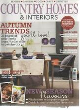 COUNTRY HOMES & INTERIORS MAGAZINE October 2011 Autumn Trends AL