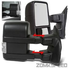 03-07 F250 Super Duty (08 Up Look) Power/Heated Side Light Clear Lens Tow Mirror
