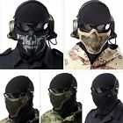 Protective Strike Metal Mesh SKULL Mask Half Face Tactical Airsoft Military Mask