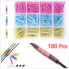 180 Pcs Car 22-10 AWG Heat Shrink Butt Electrical Wire Crimp Terminal Connectors