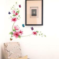 Cute Flower Magnolia Wall Stickers Room Design Bedroom Bathroom Decorative