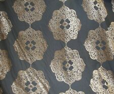 """55"""" wide Wheat Burn Out Floral Velvet Upholstery and Drapery fabric per yard"""