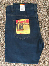 NWT Smith's Relaxed Fit Jeans  Dark Indigo     42 X 30