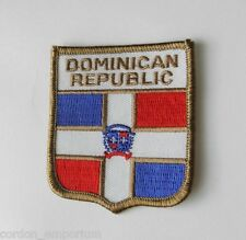 EMBROIDERED DOMINICAN REPUBLIC COUNTRY FLAG PATCH 2 X 3 INCHES