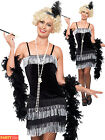 Size 8-22 Sexy 1920s Ladies Charleston Flapper Costume Womens Fancy Dress Outfit