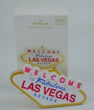Viva Las Vegas Welcome Sign Xmas Ornament Hallmark 2009 Magic Sound Battery
