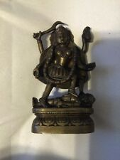 Kali Mother Goddess bronze statue with many arms and severed head, Hindu deity
