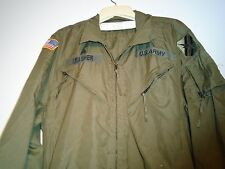 GENUINE USGI ARMY COMBAT VEHICLE CREWMEN'S COVERALLS 1989 LARGE SHORT G-14