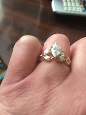 Engagement Ring 14K Yellow Gold Center st 1 Carat With Appraisal $7,599.00!!!