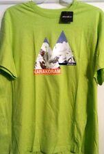 MENS EDDIE BAUER  KARAKORAM MOUNTAIN CLIMBING T-SHIRT LIME LARGE