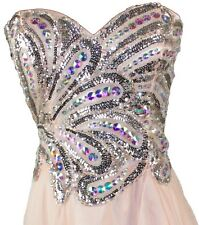 Women's Formal Chiffon Rhinestones beaded Long Evening Gown prom dress $299