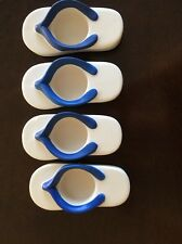 Yankee~ Candle Flip Flop Tea light Candle Holders A Set Of 4 Four Beach Decor