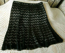 Party skirt by AUTOGRAPH M&S Size 16 Black lace effect over deep cream sheen