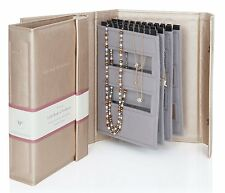 Large Little Book Of Necklaces Gold 4 Page Jewellery Storage Box Book Xmas Gift