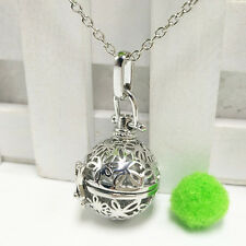 Silver Locket Necklace Fragrance Essential Oil Aromatherapy Diffuser Pendant  D3