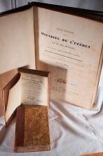 Mme V DUBOIS/ DUGES Traité Maladies de l'Utérus Gynécologie 2 Vol + Atlas 1833
