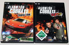 2 PC SPIELE SET - ALARM FÜR COBRA 11 - BURNING WHEELS & CRASH TIME - DVD HÜLLE