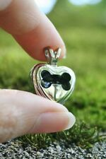 Cremation Jewelry Pendant Urn for Ashes Dog Bone Heart Memorial Gift US SELLER
