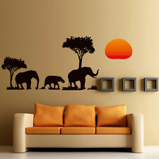Removeable Decor Elephant Family Wall Stickers Decal Decoration Art Home