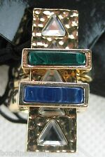 NEW MIMCO URBANESS RING STACK ART DECO GOLD RING SIZE SMALL WITH POUCH BAG R$129