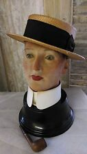 Great antique,vintage WAX mannequin head,wax head,wax bust,beautiful patin
