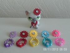 littlest pet shop accessories 10 items necklace and headband lps cat not include