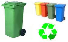 Bidone pattumiera per spazzatura nettezza urbana blu resistente lt 120 secchio