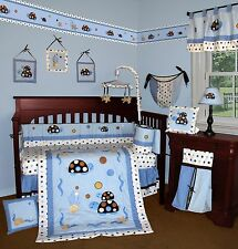 Baby Boutique - Turtle Parade - 13 pcs Crib Nursery Bedding Set