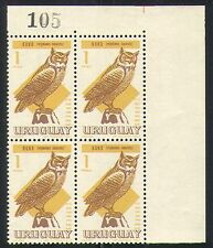 Uruguay 1967 Owls/Raptors/Birds/Nature blk (n31912)