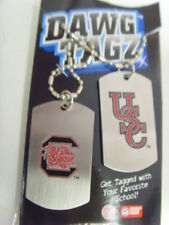 South carolina Gamecocks dawg tagz necklace key chain set collegiate ncaa 49431