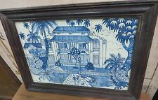 WALL DECOR HAND PAINTED CERAMIC TILES FRAMED SIGNED VELHA GOA ASIAN GROUP ARTIST